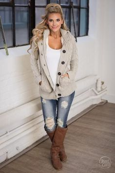 Waiting For You Hooded Sweater - Oatmeal