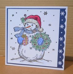 Snowman for Little Nina by susanbri - Cards and Paper Crafts at Splitcoaststampers