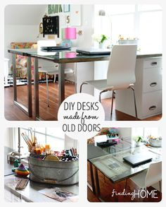 Build a custom DIY desk from old vintage doors