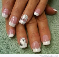 Mummy nail art design