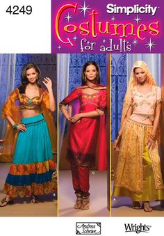 Amazon.com: Simplicity Sewing Pattern 4249 Misses Costumes, RR (14-16-18-20): Arts, Crafts & Sewing