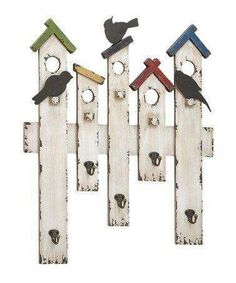 Picket fence bird house art