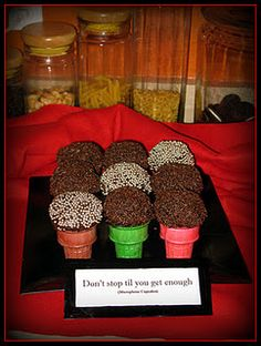 Michael Jackson Song Titles tied into the food. Don't Stop Til' You Get Enough Microphone Cupcakes