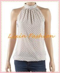 Resultado de imagen para blusa cuello mao  con cierre en la parte trasera mujer patron