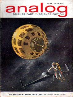 JOHN SCHOENHERR - art for The Trouble With Telstar by John Berryman - June 1963…