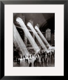 Art Paintings Mixed Media Collage: Grand Central Station, C.1930 Framed Art Print - 19X23 BUY IT NOW ONLY: $70.58