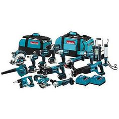 Makita LXT Lithium-Ion Cordless Combo Kit with Ah Batteries, Rapid Charger, and Tool Bag Makita Power Tools, Cordless Power Tools, Cordless Drill, Cordless Reciprocating Saw, Angle Drill, Sds Plus, Thing 1, Impact Driver, Cool Tools