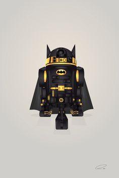 Batman R2-D2 Art Print