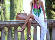Asymmetric Hem Tunic Dress - perfect for a day in the park