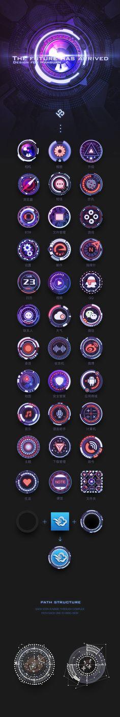 科幻手机主题Future Has Arrived及输入法皮肤优化版 by Hamburn_彬仔 on ZCOOL
