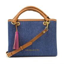 Bolsa de Mão Jeans Loucos & Santos - Azul