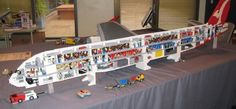 Lego Airbus A380 with touchscreen controls