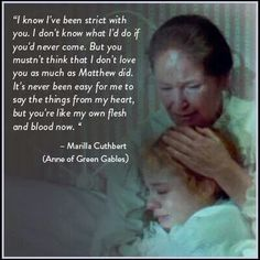 Anne of Green Gables _ Colleen Dewhurst as Marilla and Meghan Fellows as Anne Shirley Anne Of Avonlea, Gilbert Blythe, Anne With An E, Anne Shirley, Kindred Spirits, Pride And Prejudice, Good Movies, Girly Movies, Amazing Movies