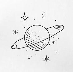 Space Drawings, Mini Drawings, Cute Easy Drawings, Cool Art Drawings, Pencil Art Drawings, Doodle Drawings, Drawing Sketches, Drawing Ideas, Sketchbook Drawings