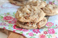 Snickerdoodle-like Cinnamon and White Chip Cookies from Picky Palate