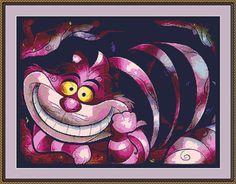 Cheshire Cat Cross Stitch Pattern PDF counted by xstitchworld