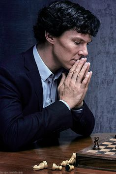 Sherlock. They're actually playing chess this time...