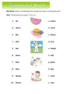 FREE  Worksheet pack on compound words and punctuation.