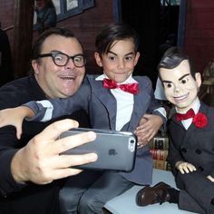 One #Slappy family. #Goosebumps is in cinemas now. #JackBlack