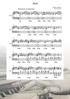 Ноты Imagine Dragons - Birds - Пианино.Соло Easy Piano Songs, Dragon Bird, Imagine Dragons, Sheet Music, Music Sheets