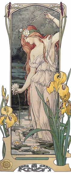 Art nouveau - Indeed, the Naturalistic forms. Such women also look good in jeans and are likely to go barefoot.
