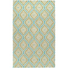 Found it at AllModern - Hand-Tufted Green Area Rug