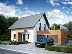 LifeStyle 8 (out) von massa haus Architectural Design House Plans, Modern House Design, Porch Over Garage, Family House Plans, Garage Design, Wooden House, Cubes, Custom Homes, Modern Architecture