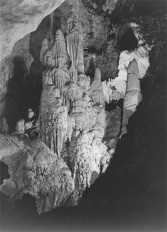 Ansel Adams - Natural formations at Carlsbad Caverns