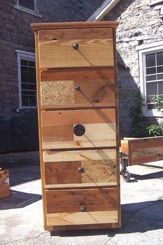 Steampunk Tallboy Industrial Style Dresser by BarnWoodFurniture