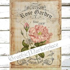 Rose Garden Large Image Instant Download by GraphicMarketplace