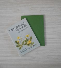 shakespeare's flowers illustrated book / jessica kerr / flower picture plate prints