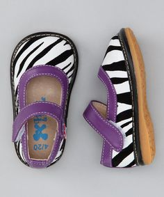 Zebra Mary Jane Squeakers - Infant & Toddler by Kids' Shoe Bonanza on #zulilyUK today!