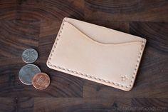 Three Pocket Flat Wallet front pocket by OneStarLeatherGoods