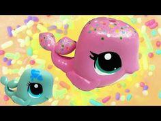 Custom LPS Whale Pink Rainbow Sprinkle Vanilla Cake Inspired DIY Littlest Pet Shop - YouTube