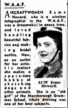 1943 Aircraftswoman Esme Howard