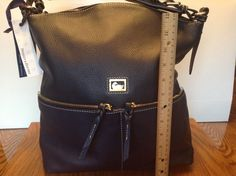 DOONEY & BOURKE Handbag NEW Dillen Zipper Pocket Sac XL Navy Leather Pebbled #DooneyBourke #TotesShoppers