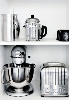 I want #kitchen storage like this one day along with the beautiful small appliances to match.