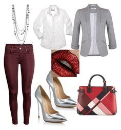 """""""love me"""" by fashionista-mafia on Polyvore featuring Casadei, Miss Selfridge and Burberry"""