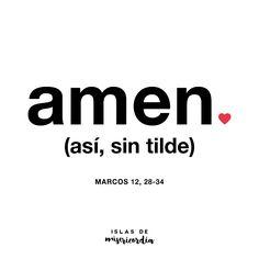 Amen… (Marcos 12, 28-34)
