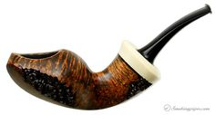 New Tobacco Pipes: Chris Asteriou Smooth Blowfish with Moose Antler (03/15) at Smokingpipes.com