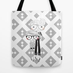 le retro couple Tote Bag by iso.  - $22.00