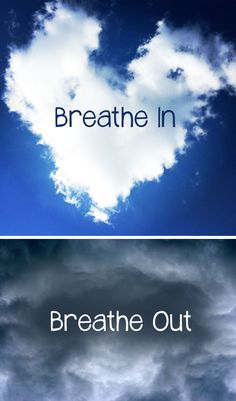 3 Calming Breathing Exercises for Kids: Ask your child to BREATHE IN blue skies and BREATHE OUT gray skies.