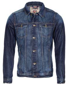 Men's Tokyo Laundry Navy Blue Stylish Denim Jacket 29.99