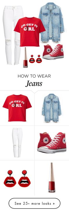 """""""Untitled #385"""" by teya-safi on Polyvore featuring LE3NO, DL1961 Premium Denim, Miss Selfridge, Converse and sweet deluxe"""