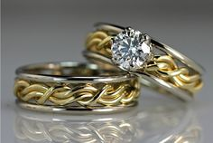 """""""Cord Of Three"""" Wedding Rings, Wedding Bands made by Artist Todd Alan"""