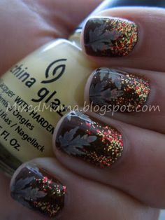 Thanksgiving Day Nails #nails #thanksgiving #holidayfun