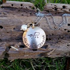 Personalized Necklace -Hand Stamped Jewelry - Always and Forever Necklace- Weddings- Brides gift - Anniversary gift- Anniversary necklace