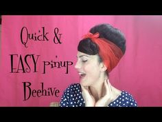 How to Retro / Vintage Betty Grable pin up inspired hairstyle Bumper Bangs - Vintagious - YouTube