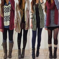 Winter outfits. Too bad LA doesn't get winter