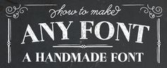 How to Make Any Font a Handmade Font. Photoshop tips. Nordic360.